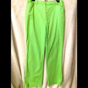 ⛱2/66⛱🦚NWOT🦚BRIGHT APPLE GREEN Cotton Lycra Jean